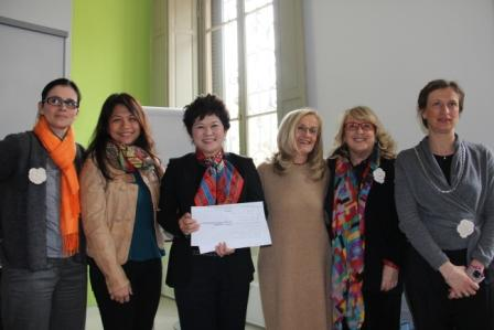 left to right: Emanuela Vercalli - Co-Chair, Reggio Children International Network, Emelia Prayogo - Director of Pedagogy, EtonHouse, Mrs. Ng Gim Choo - Group Managing Director, EtonHouse, Carla Rinaldi-President of Reggio Children, Amelia Gambetti - Co-Chair, Reggio Children International Network and Paola Ricco - responsible for Professional Development, Reggio Children International Network