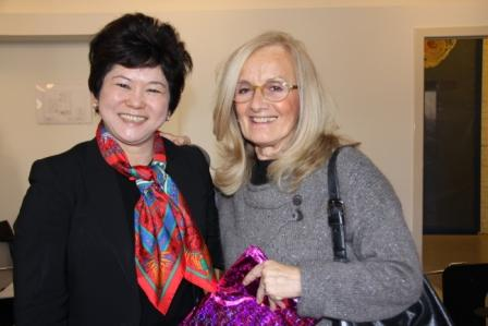 Mrs. Ng Gim Choo and Carla Rinaldi  pedagogista  President of Reggio Children and President of the Foundation Reggio Children - Loris Malaguzzi Centre